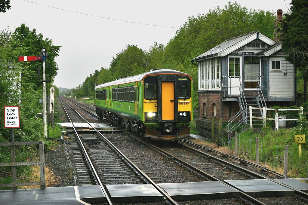 153333 and 153385, Metheringham 21/5/2005<br /> 2K36 1733 Sleaford-Doncaster