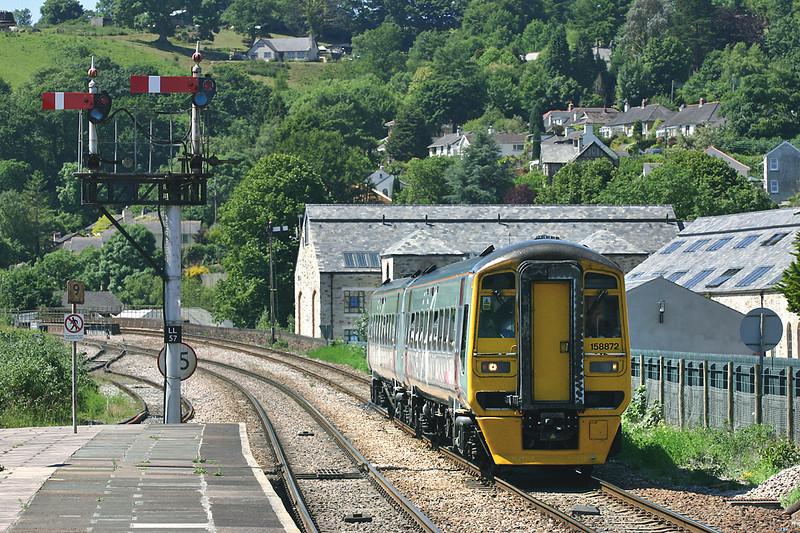 158872 Lostwithiel 22/6/2005<br /> 1B41 1025 Penzance-Cardiff Central