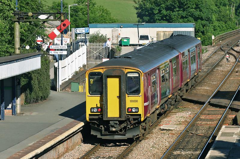 150230 Liskeard 22/6/2005<br /> 1C74 1630 Penzance-Exeter St Davids
