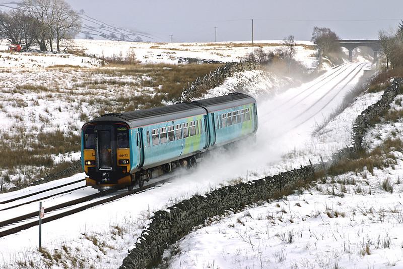 156472 Ais Gill 23/2/2005<br /> 2H88 1249 Leeds-Carlisle