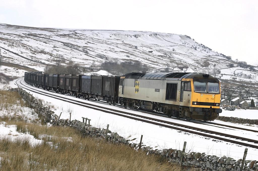 60091 Ais Gill 23/2/2005<br /> 6E13 1240 Newbiggin-Milford Sidings