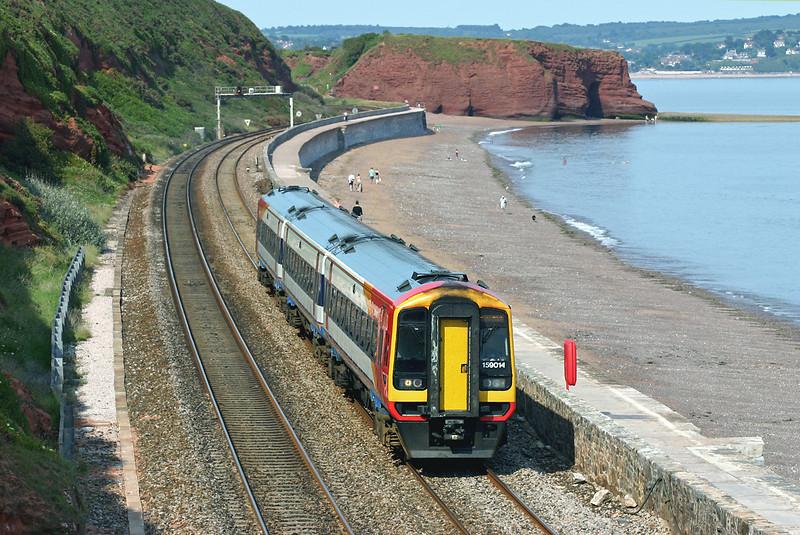 159014 Dawlish 23/6/2005<br /> 1L33 1220 London Waterloo-Plymouth