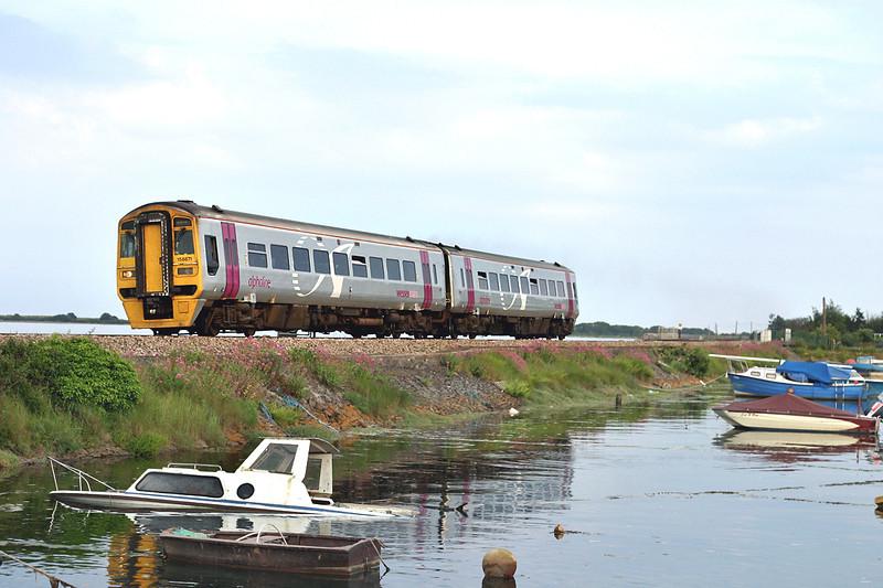158871 Cockwood Harbour 23/6/2005<br /> 2F57 1935 Paignton-Exeter St Davids