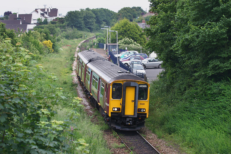 150261 Lympstone 24/6/2005<br /> 2A37 1554 Exmouth-Paignton
