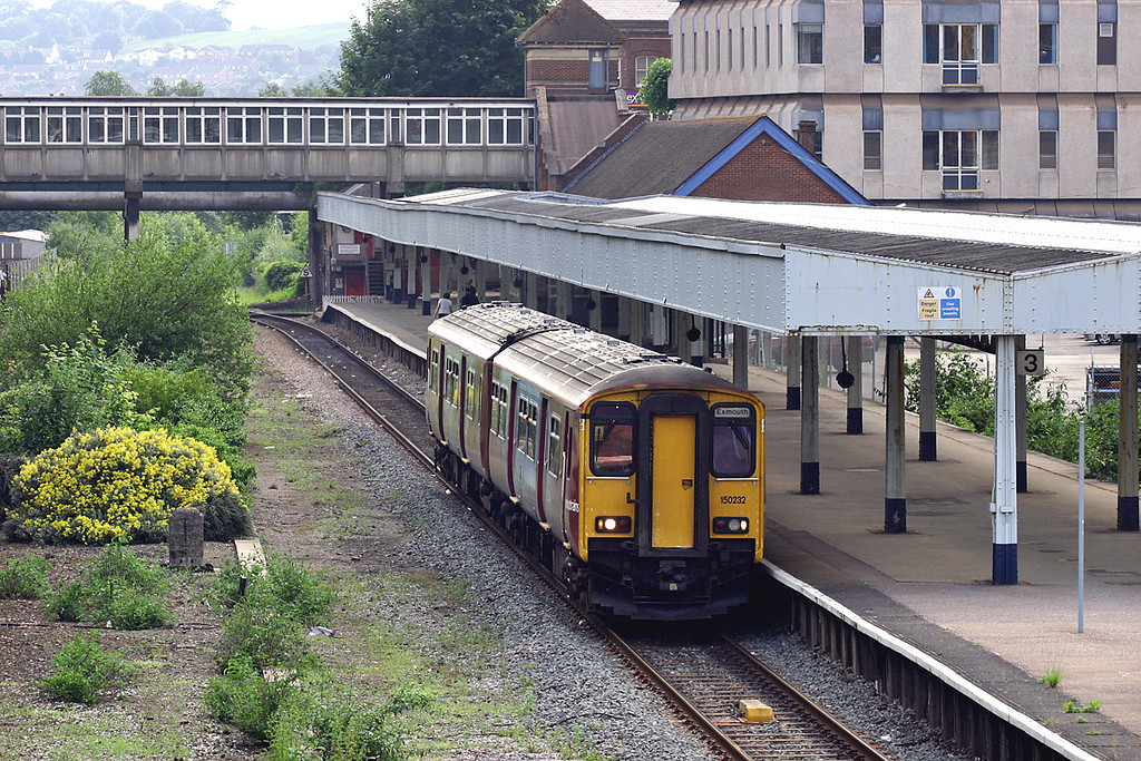 150232 Exeter Central 24/6/2005<br /> 2F43 1555 Barnstaple-Exmouth
