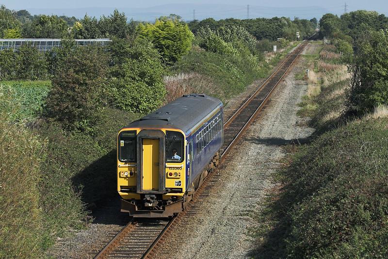 153360 Burscough Moss 24/9/2005<br /> 2F08 1133 Preston-Ormskirk