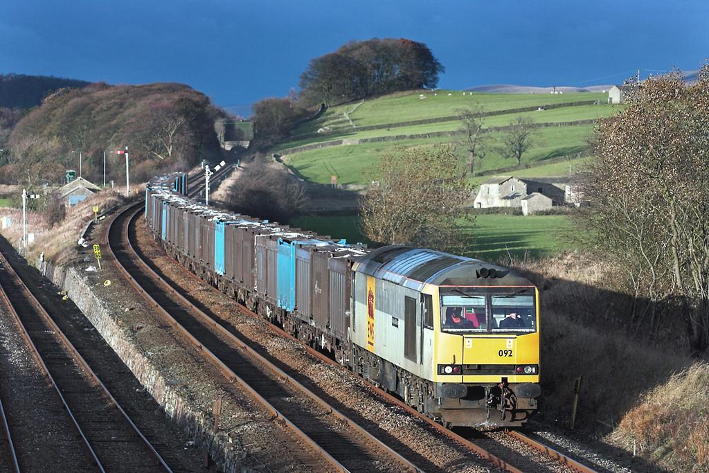60092 Settle Junction 24/11/2005<br /> 6E13 1420 Newbiggin-Milford Sidings