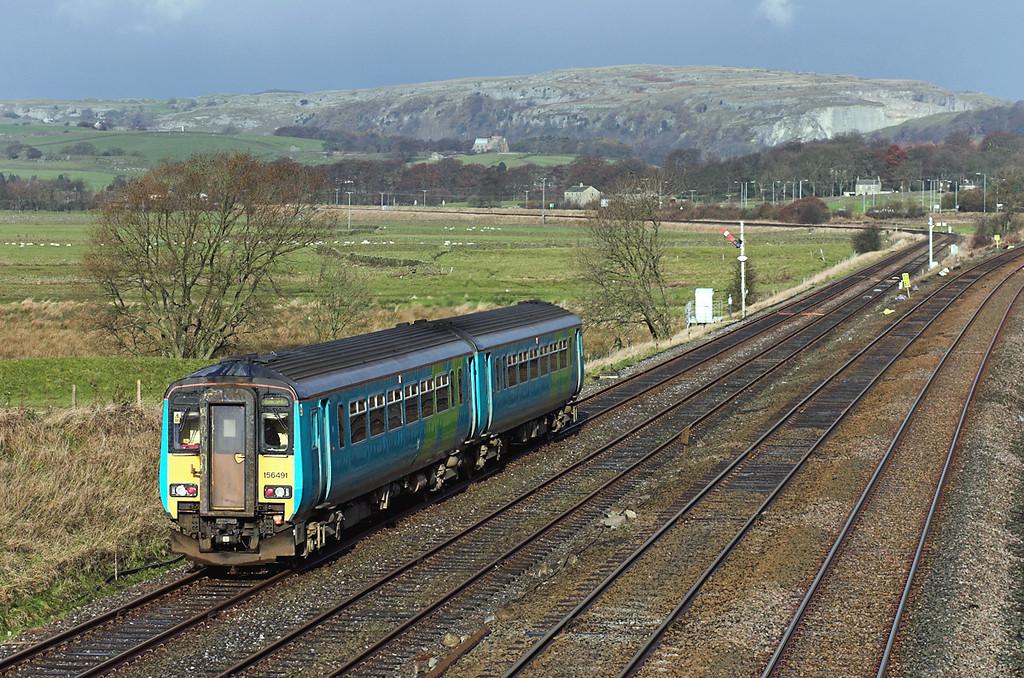 156491 Settle Junction 24/11/2005<br /> 2H84 1019 Leeds-Morecambe
