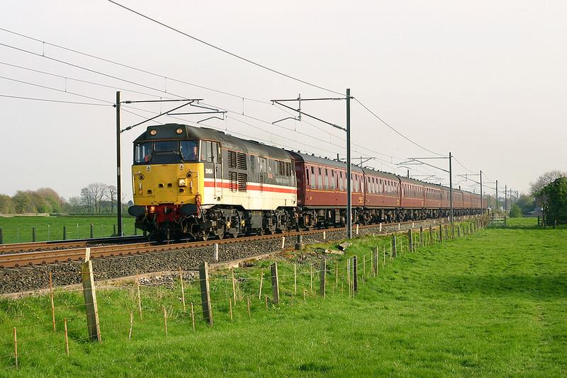 31454 Brock 25/4/2005<br /> 5Z66 1048 Didcot-Carnforth
