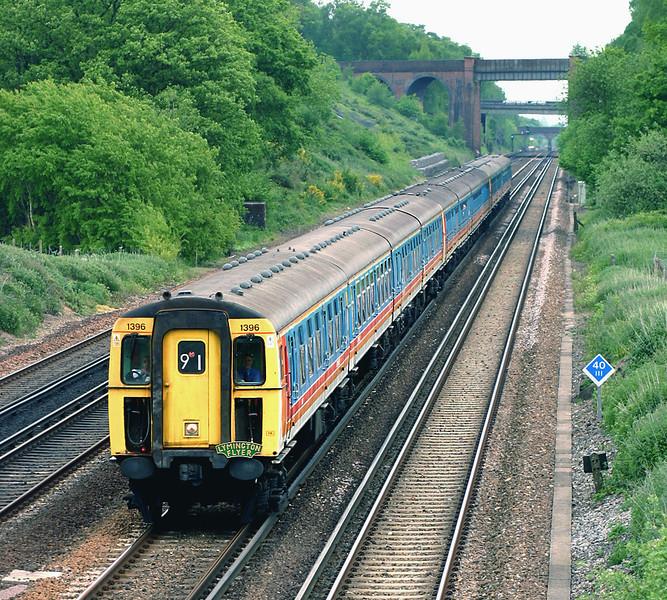 1396, 3536 and 1398, Potbridge 26/5/2005<br /> 1W31 1135 London Waterloo-Bournemouth