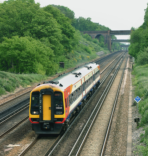 159021 Potbridge 26/5/2005<br /> 1L29 1120 London Waterloo-Yeovil Junction