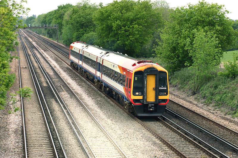159008 Potbridge 26/5/2005<br /> 1L34 1045 Salisbury-London Waterloo