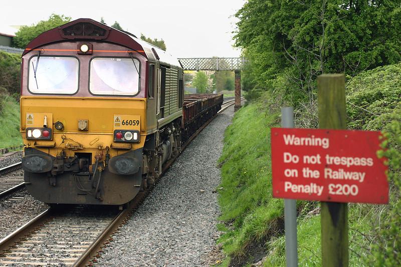 66059 Wilnecote 27/4/2005<br /> 6E71 1429 Wolverhampton Steel Terminal-Roundwood