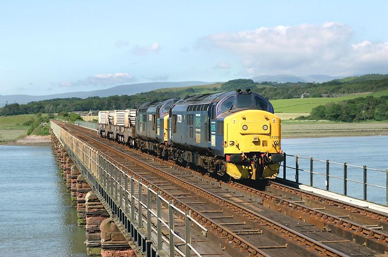 37229 and 37029, Eskmeals Viaduct 27/6/2005<br /> 6K73 1535 Sellafield 27/6/2005