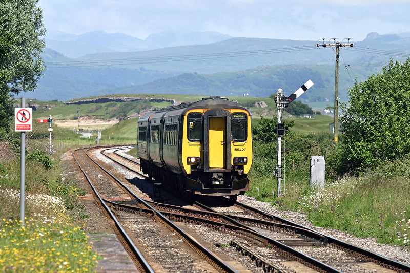 156427 and 153358, Askam-in-Furness 27/6/2005<br /> 2C34 0945 Carlisle-Barrow in Furness
