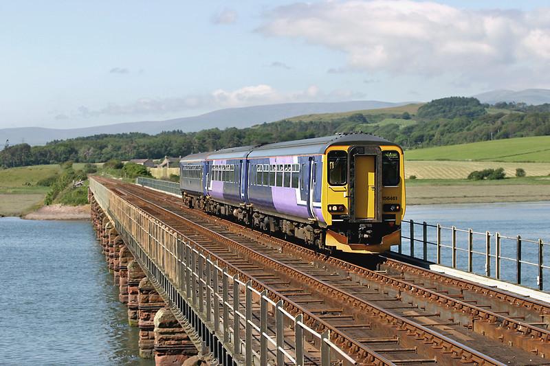 156461 and 153360, Eskmeals Viaduct 27/6/2005<br /> 2C42 1420 Carlisle-Lancaster