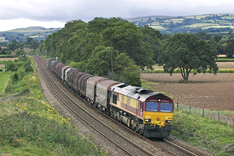 66173 Dorrington 27/8/2005<br /> 6M88 0838 Llanwern-Dee Marsh