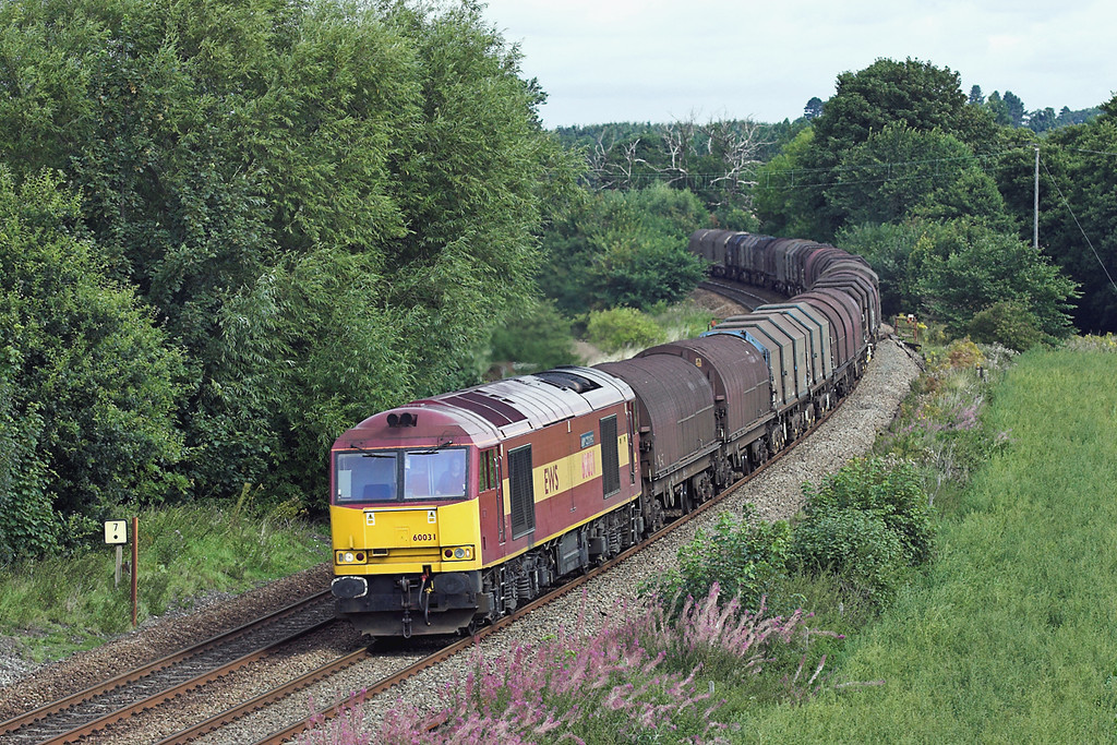 60031 Dorrington 27/8/2005<br /> 6V75 0930 Dee Marsh-Margam