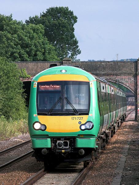 171727 and 171806, Edenbridge Town 28/7/2005<br /> 1E48 1634 Uckfield-London Bridge