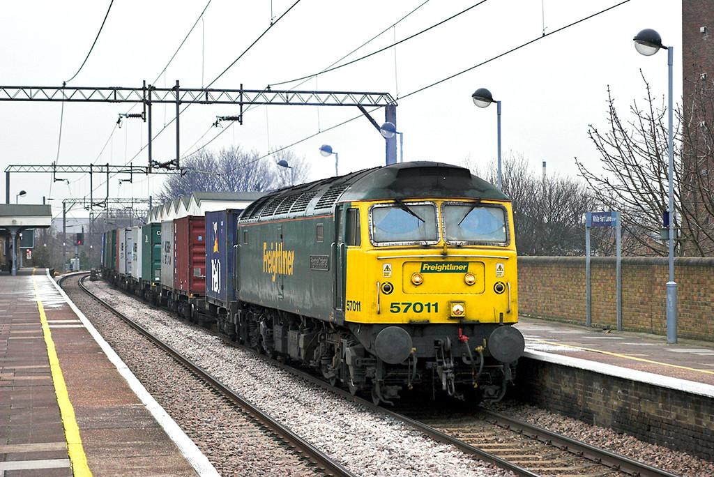 57011 White Hart Lane 2/2/2006<br /> 4R97 0756 Felixstowe FLT-Tilbury CT