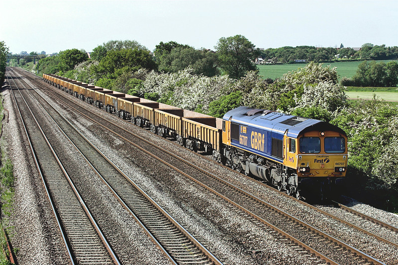 66707 Cossington 2/6/2006<br /> 6P07 1545 Sandiacre-Whitemoor Yard