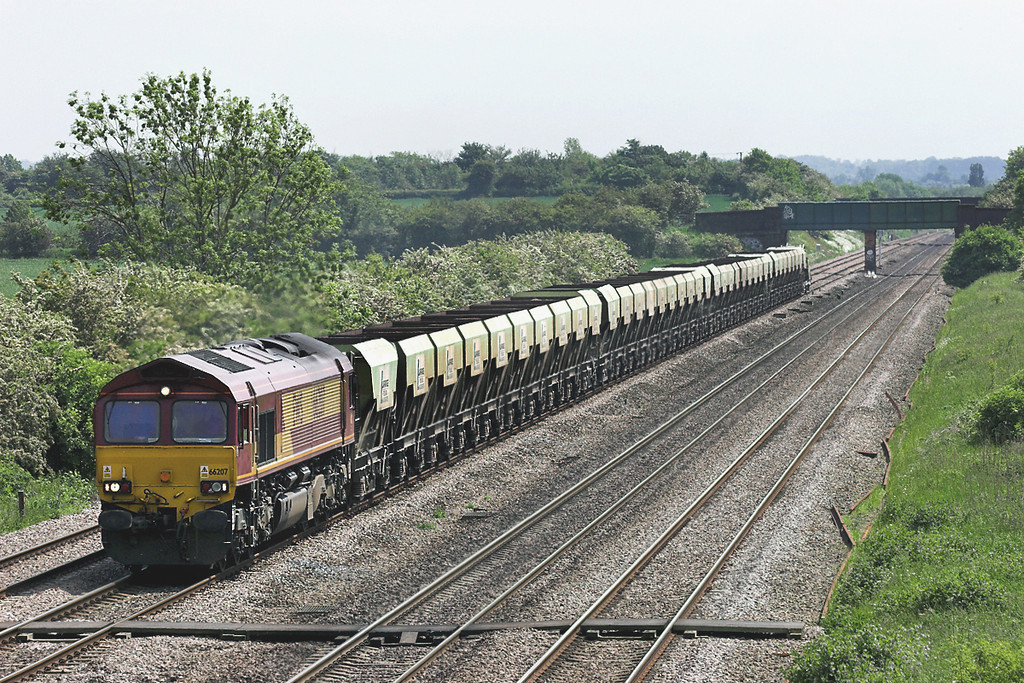 66207 Cossington 2/6/2006<br /> 6Z64 1208 Peterborough Yard-Mountsorrel