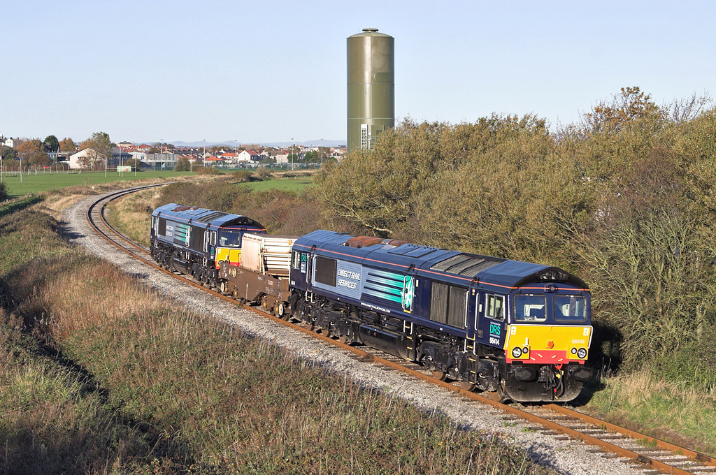 66414 and 66417, Sandylands 2/11/2006<br /> 6C51 1237 Sellafield-Heysham