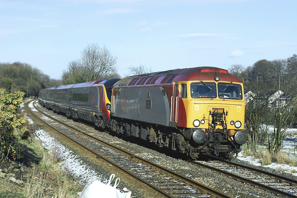 57314 and 390038, Horrocksford Junction 4/3/2006<br /> 1M16 1140 Glasgow Central-London Euston