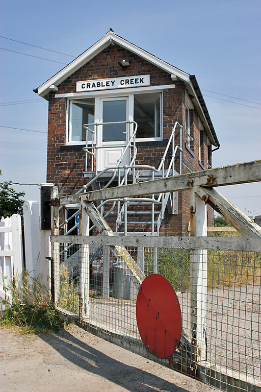 Crabley Creek Level Crossing and Signal Box 4/7/2006
