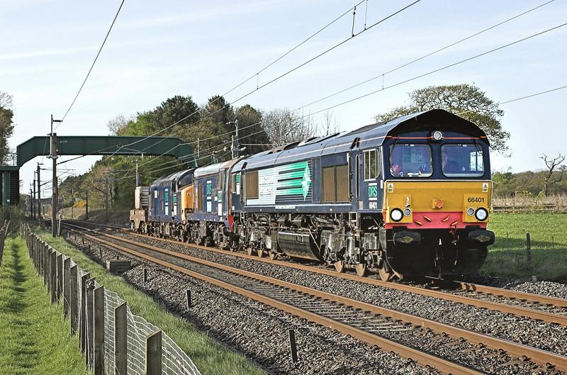 66401, 20305 and 37612, Brock 5/5/2006<br /> 6K73 1017 Sellafield-Crewe