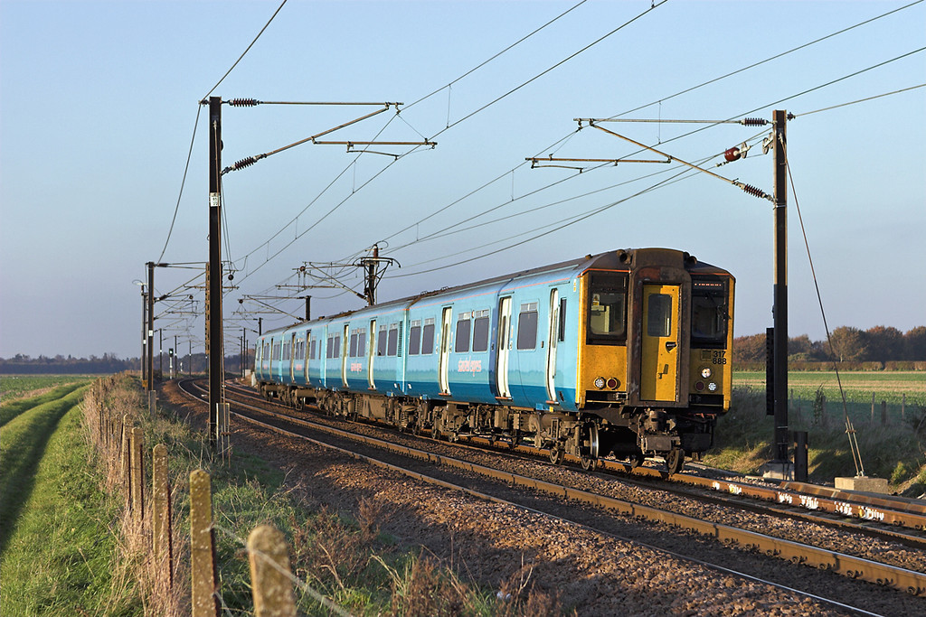 317888 Shepreth Branch Junction 6/11/2006<br /> 2H43 1521 Cambridge-London Liverpool Street