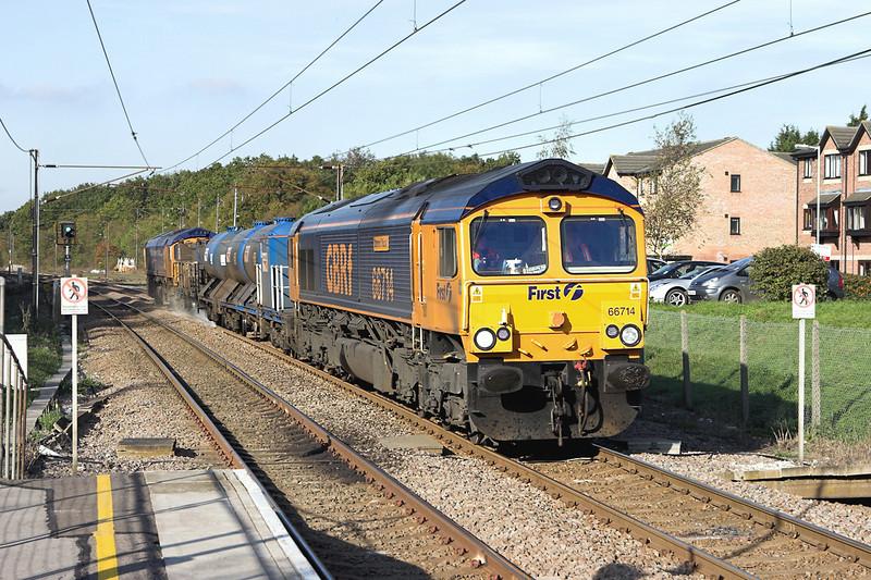 66714 and 66720, Watton at Stone 6/11/2006<br /> 3J32 0625 Harringay-Finsbury Park