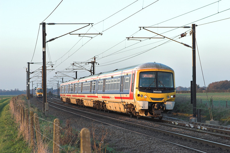 365529 Shepreth Branch Junction 6/11/2006<br /> 2C60 1554 Cambridge-London Kings Cross