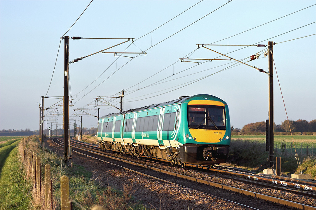 170111 Shepreth Branch Junction 6/11/2006<br /> 1L16 1224 Birmingham New Street-Stansted Airport