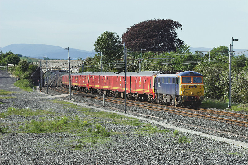 87022, 325004, 325007 and 325006, Elmsfield 7/6/2006<br /> 1M44 1547 Shieldmuir-Warrington RMT