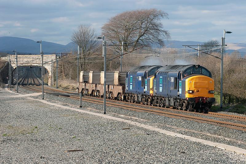 37610 and 37606, Elmsfield 10/4/2006<br /> 6K73 1338 Sellafield-Crewe CLS