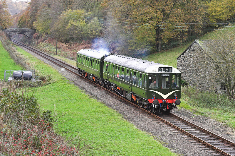 52077 and 52071, Newby Bridge 11/11/2006<br /> 1230 Haverthwaite-Lakeside