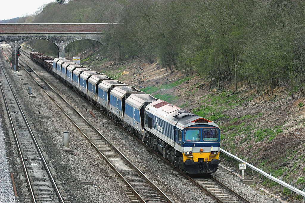 59102 Ruscombe 12/4/2006<br /> 7A17 1055 Merehead-Acton Yard