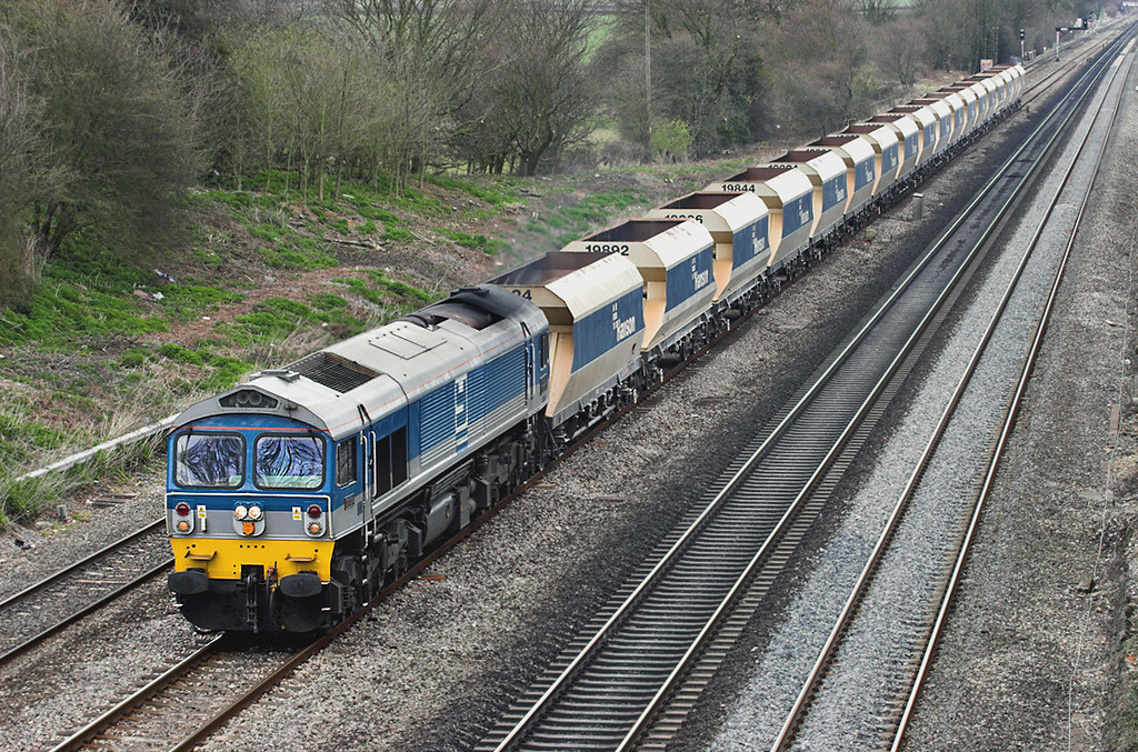 59004 Ruscombe 12/4/2006<br /> 6V18 1231 Hither Green-Whatley Quarry