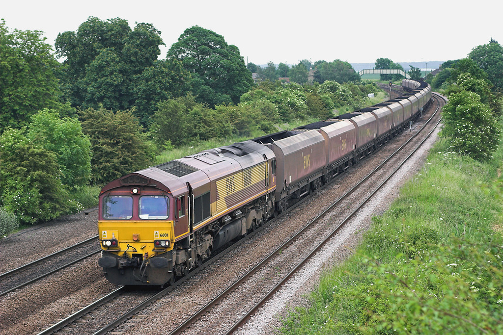 66011 Melton Ross 13/6/2006<br /> 6C41 1206 Immingham High Level Terminal-Eggborough PS