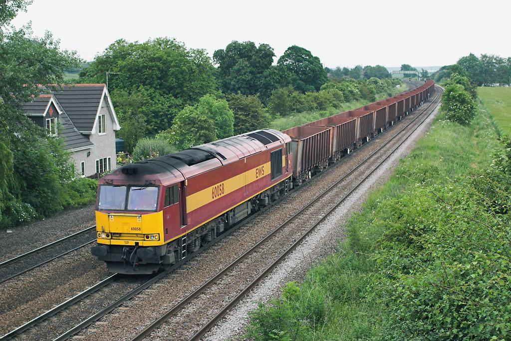 60058 Melton Ross 13/6/2006<br /> 6T25 1410 Immingham Ore Terminal-Stanton