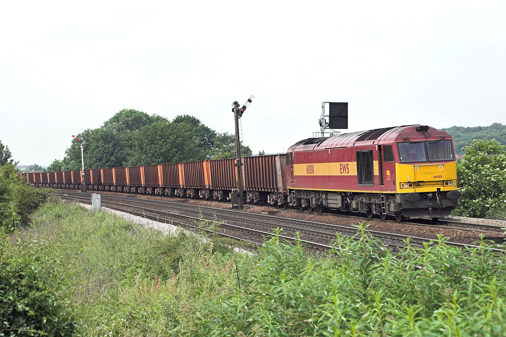 60058 Barnetby 13/6/2006<br /> 6K23 1141 Stanton-Immingham Ore Terminal