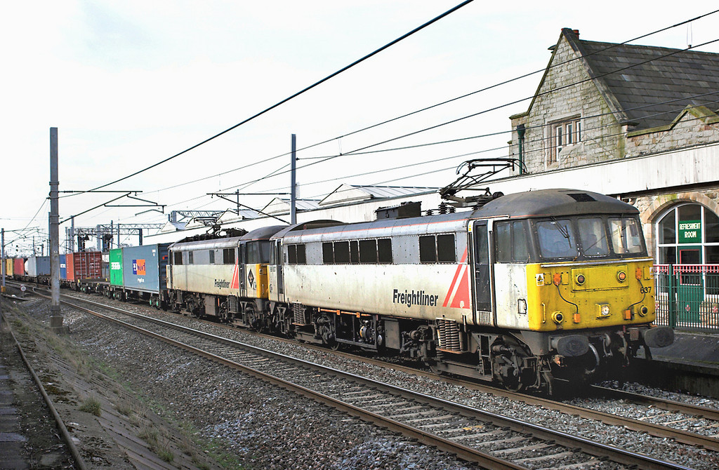 86637 and 86622, Carnforth 16/3/2006<br /> 4S52 0802 Basford Hall-Coatbridge