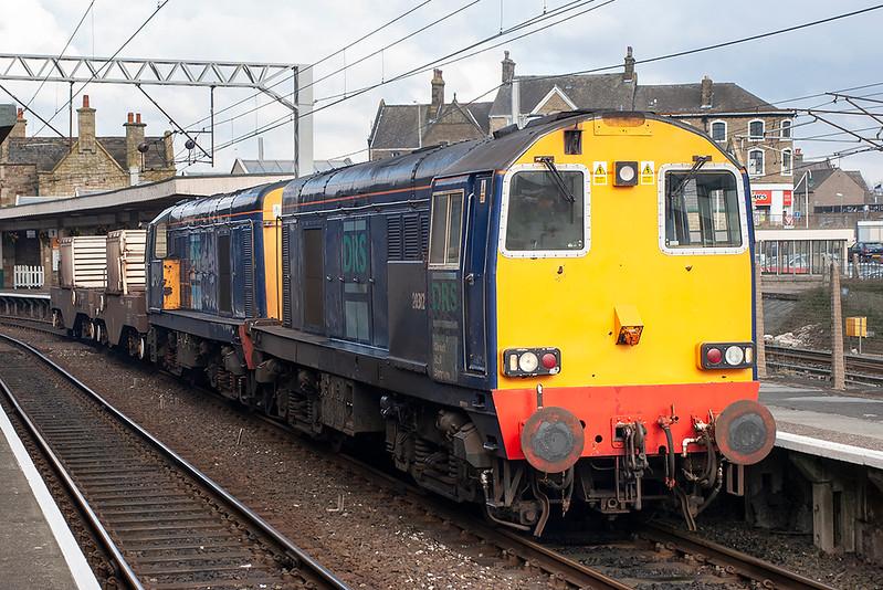 20312 and 20311, Carnforth 16/3/2006<br /> 6C51 1237 Sellafield-Heysham