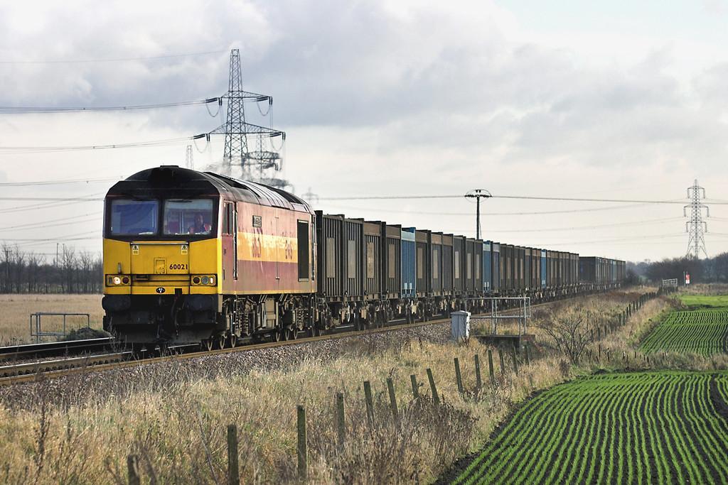 60021 Knottingley 17/1/2006<br /> 6Z88 1016 Drax PS-Hotchley Hill