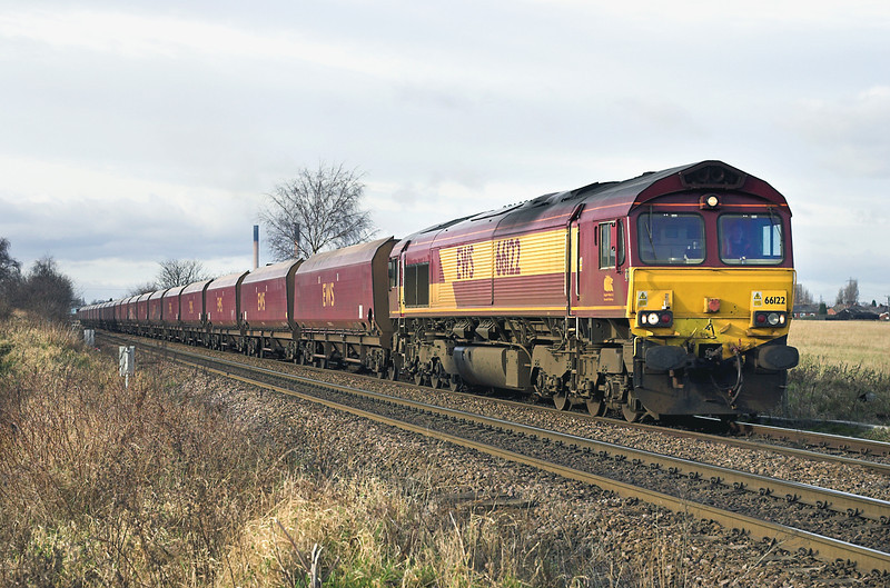 66122 Knottingley 17/1/2006<br /> 6E61 2300 Chalmerston-Eggborough PS