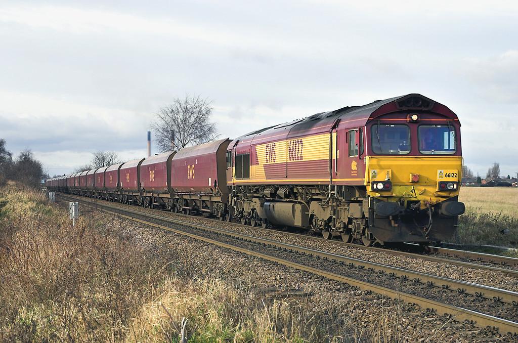 66122 Knottingley 17/1/2006<br /> 6E61 2300 Chalmerston-Eggborough PS