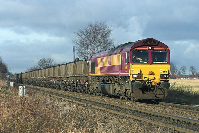 66118 Knottingley 17/1/2006<br /> 6H24 0830 Rossington-Drax PS