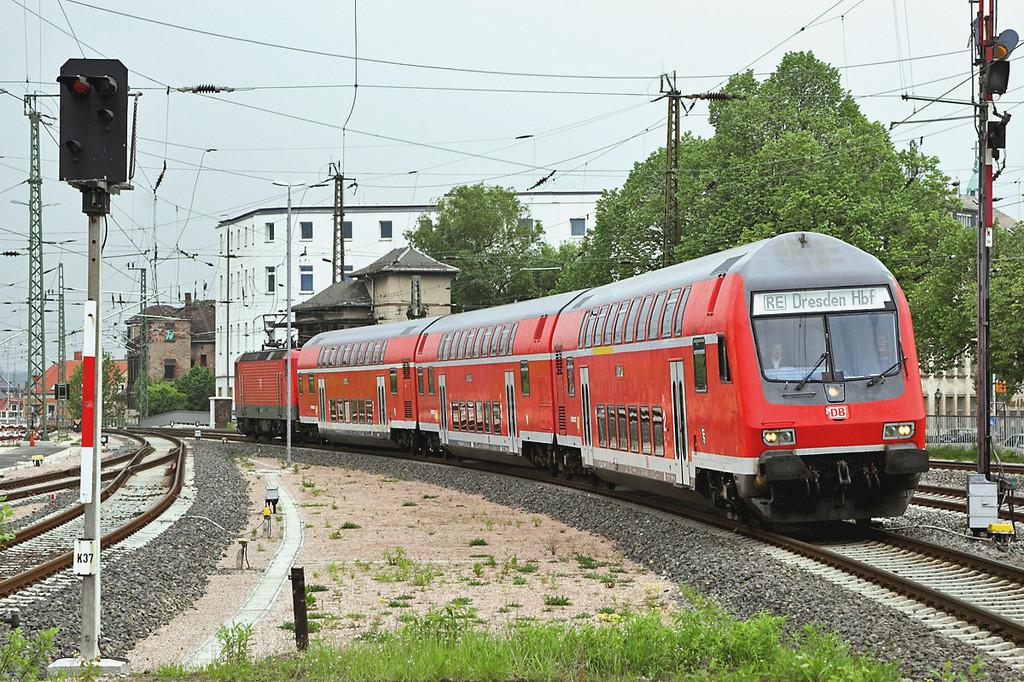 143562 (on rear), Zwickau Hbf 17/5/2006<br /> RE17310 0835 Dresden Hbf-Zwickau Hbf