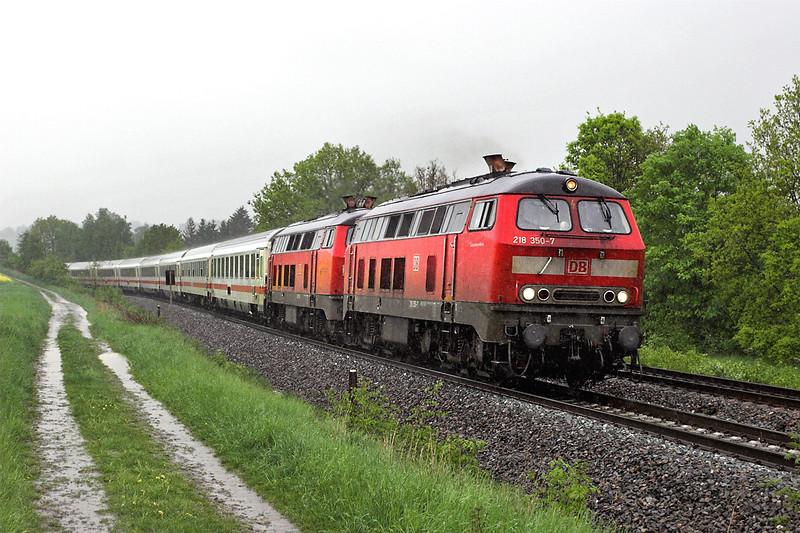 218350 and 218178, Limbach 17/5/2006<br /> IC2060 1417 Dresden Hbf-Karlsruhe Hbf